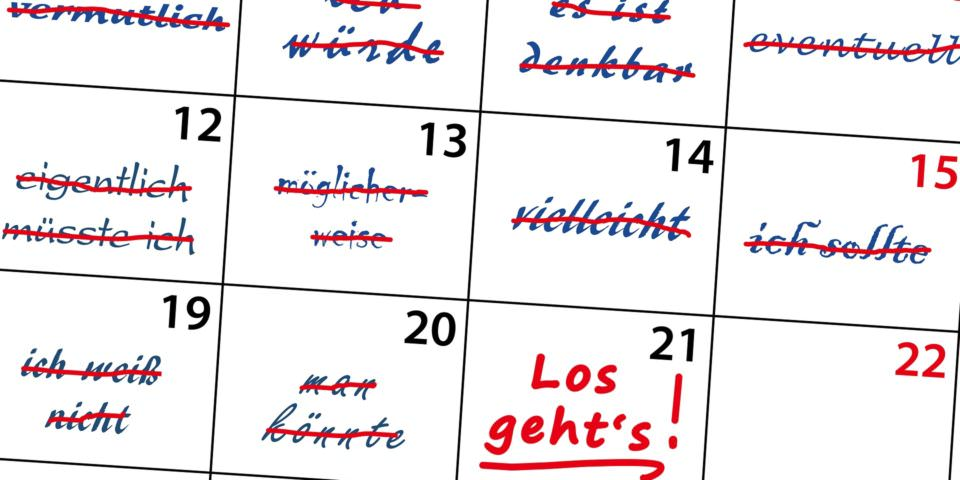 Aufschieberitis Kalender